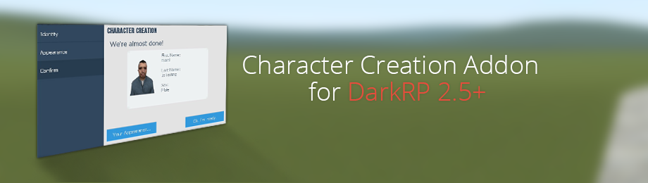 Character Creation Addon for DarkRP